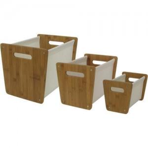 Bamboo Storage Bins   3 Pk.