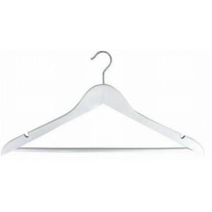 White Flat Suit Hanger W Pant Bar